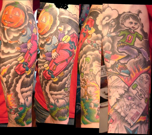 crazy new skate tattoos. i also need to make comments on thursdays child
